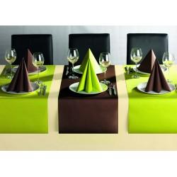 zielone  serwetki z flizeliny
