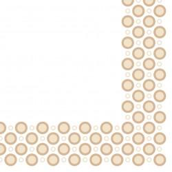 Serwetki flizelinowe beżowe