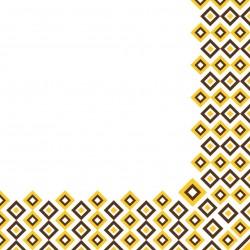 Serwetki flizelinowe żółto-brązowe