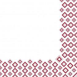 Serwetki flizelinowe czerwono-srebrne